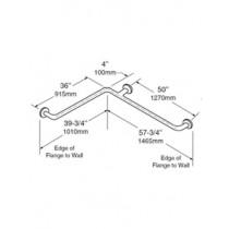 Bobrick 1-1/4 Diameter Satinless Steel Two Wall Grab Bar 36