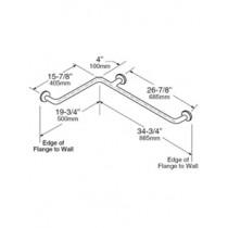 Bobrick 1-1/2 Diameter Satinless Steel Two Wall Grab Bar 16