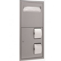 Bobrick ClassicSeries Recessed-Mounted Seat-Cover Dispenser and Toilet Tissue Dispenser